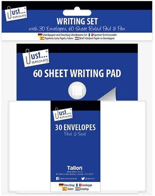 £3.29 • Buy Writing Set - A5 Lined Pad Pen And 30 Envelope Set Letters
