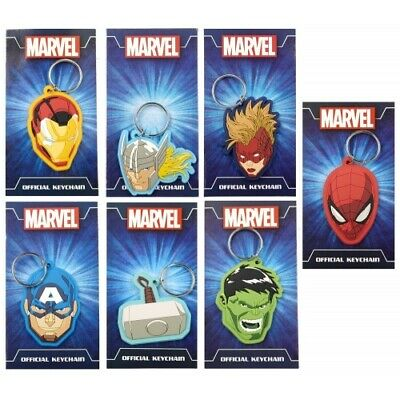 £2.89 • Buy Assorted Marvel Avengers Silicone 2D Keyrings -  Kids, Boys Rubber Keychain New