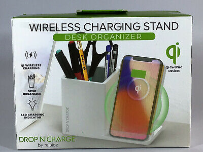 $ CDN21.85 • Buy Wireless Charging Stand Desk Organizer By Rejuice Drop N' Charge QI Certified