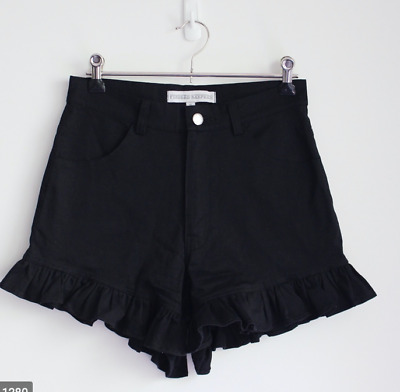 AU20 • Buy Finders Keepers Black Frilled Shorts, Size XS