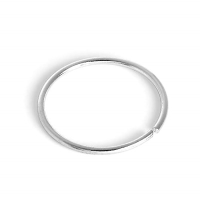 AU30.52 • Buy 9ct White Gold 8mm Nose Hoop Ring