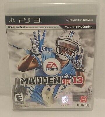 £4.36 • Buy Madden NFL 13 PS3 - Playstation Network, Ultimate Team Pack, Online Pass PS Vita