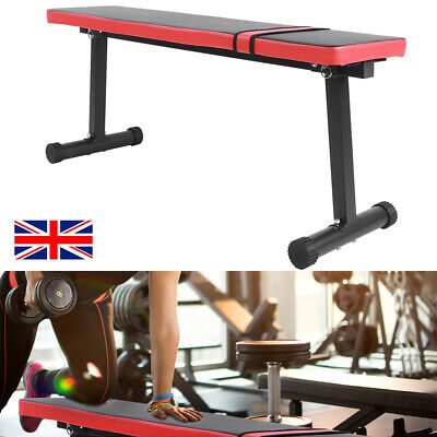 Professional Gym Weight Bench Flat Exercise Stool Heavy Duty Dumbbell Training • 52.99£