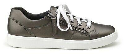 Hotter Ladies Chase Pewter Grey Leather Lace Up Casual Shoes - Size Uk 6.5 • 10.50£