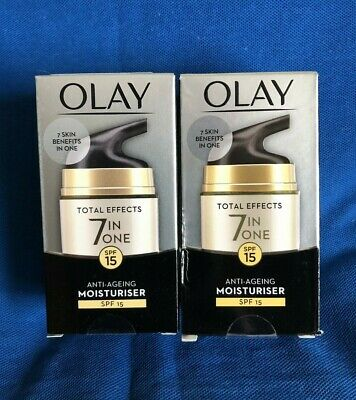 AU36.10 • Buy 2 X Olay Total Effects 7 In One Anti-Ageing Moisturiser With SPF 15, 50ml Each