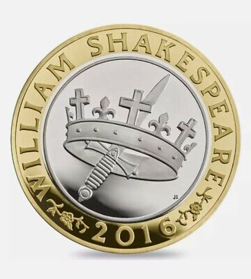 WILLIAM SHAKESPEARE HISTORIES 2016 - Rare £2 Circulated Coin  **Good Condition** • 40£