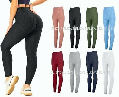 Womens Anti-Cellulite High Waist Yoga Pants Gym Leggings Sports Elastic Trousers • 7.99£