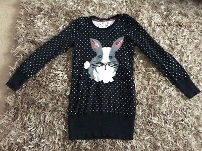 Girls Blue Zoo @ Debenhams Bunny Rabbit Sequin Jumper Dress Age 7 8 9 Years • 7.50£