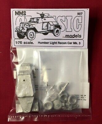 1/76th Scale WW2  HUMBER LIGHT RECCE CAR Mk 3  - MMS Models White Metal Kit • 14.50£