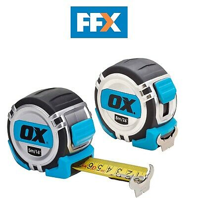 £26.95 • Buy OX Tools OX-P504858 5m/8m Pro Tape Twin Pack