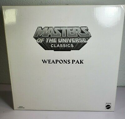 $50 • Buy 2009 Mattel Weapons Pak R5959 MOTU Masters Of The Universe Classics Sealed