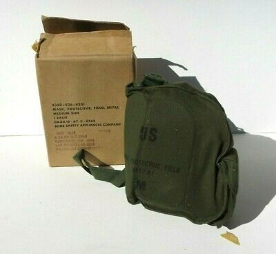 $329.99 • Buy Vietnam War Era US Army Military M17A1 Gas Mask Carrier & Filter 1968 MED