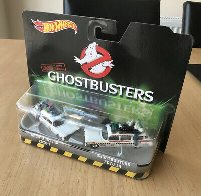 Rare Hot Wheels Ghostbusters Ecto-1 & Ecto-1A Die-Cast Car Twin Pack 1:64 New • 50£