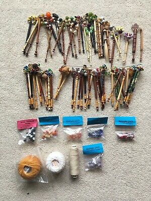 Collection Of 68 Lacemaking Bobbins, And Other Equipment. • 10.50£