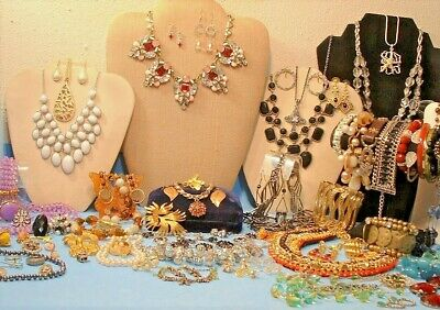 $ CDN164.10 • Buy Estate Todays Fashion & Vintage Jewelry Lot 100+ Pcs. W/925 Silver Many Signed