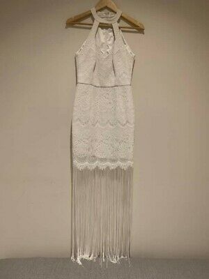 AU40 • Buy Forever New White Lace Dress Size 8