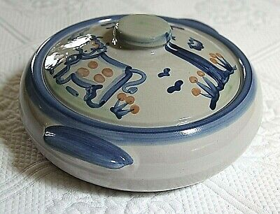 $29.99 • Buy M.A. Hadley Pottery, Cow & Pig, 9  Medium Casserole Dish With Lid