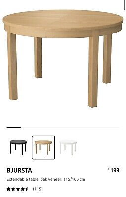 IKEA Round Extendable Dining Table • 20£