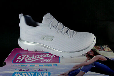 Skechers Ladies Slippers Sneakers Low Shoes Trainers White New • 62£