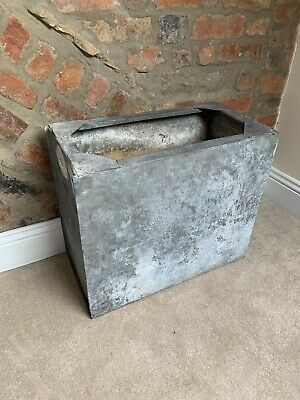 Vintage Tall / Large Rectangular Galvanised Water Tank - Barn Find - Salvage • 100£