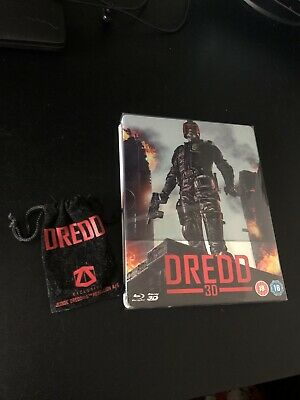 Dredd 3D/2D Blu Ray Steelbook And Numbered Key Ring • 16£