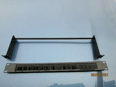 19  1U Rack Mount  Panel Cable Entry Brush Plate & STRESS RELIEF BAR • 4£