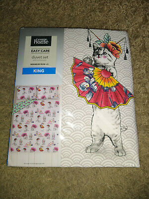 George Home Geisha Cats King Size Duvet Set New In Packaging • 15£