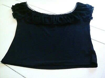 Ladies Tops Size 14 Bardot Style Off The Shoulder Black • 0.99£