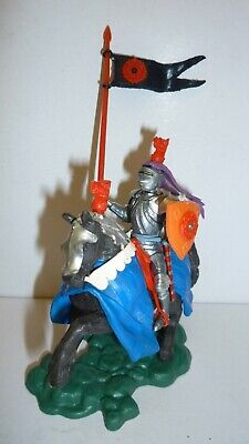 Vintage Britains Mounted Lancastrian Swoppet Knight With Standard No 1450 • 21£
