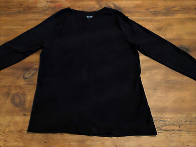 Ladies MATALAN PAPAYA Size 20 Black Cotton Long Sleeve Top • 0.99£