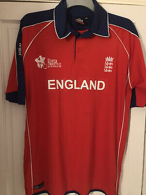 England Cricket Shirt Top - Admiral Xxl - Hardly Worn, Good Condition • 3.20£