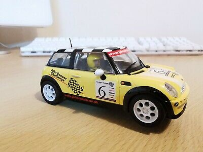 Scalextric BMW Mini Cooper  (yellow John Cooper Challenge Car) • 10.50£
