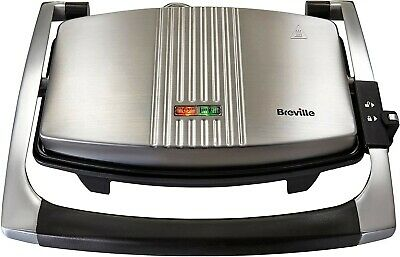 Breville Sandwich/Panini Press And Toastie Maker, Stainless Steel [VST025]  • 17£