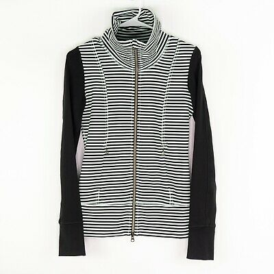 $ CDN75.95 • Buy Lululemon Daily Yoga Jacket Luon Classic Stripe Mint Moment Black Womens Size 2