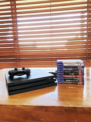 AU550 • Buy Ps4 Pro 1TB Console Black 10 Games Included
