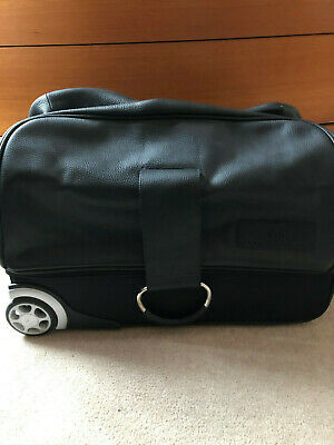 Leather Travel Bag With Wheels And Handle (Weekends And Overnight) • 45£
