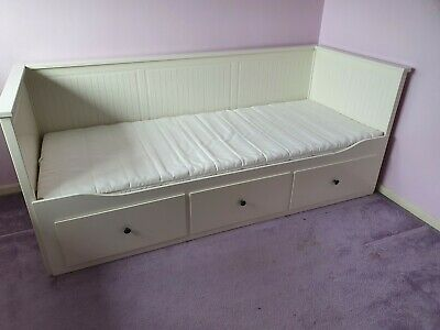 IKEA HEMNES, Day-bed Frame With 3 Drawers, White, 80x200cm Including Mattress • 124£