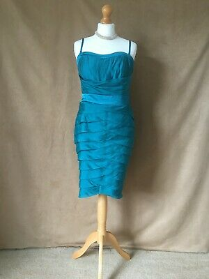 AU26.17 • Buy Coast Ladies Stylish Teal Party Or Special Occasion Dress. Size 14