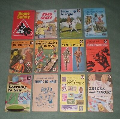 12 VINTAGE LADYBIRD BOOKS - SERIES 633 ( MAINLY ) 1960's - 1970's. 4 - 1st's. • 12£