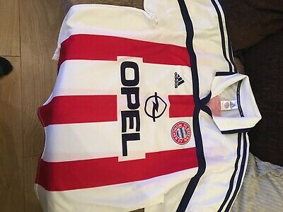 Original Retro Xl Bayern Munich Germany 2000/2002 Away Football Shirt !!! • 16£