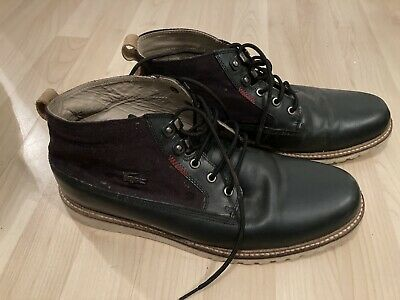 Mens Lacoste Shoes Boots Navy Blue Size 11 • 20£
