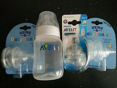 AU26.64 • Buy Philips AVENT Classic 260 Ml Bottle And 3 Packs Of 2 Teats (6teats) AVENT& Heinz