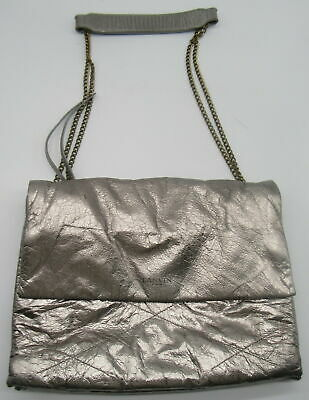 LANVIN Silver Metallic Shoulder Bag  • 160.93£