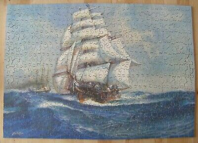 £58 • Buy Vintage Chad Valley 500 Piece Wooden Jigsaw Puzzle Sailing Ship