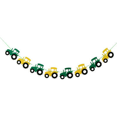 AU7.59 • Buy Green Tractor Birthday Banner - Decorations - Party Supplies - Party Banners