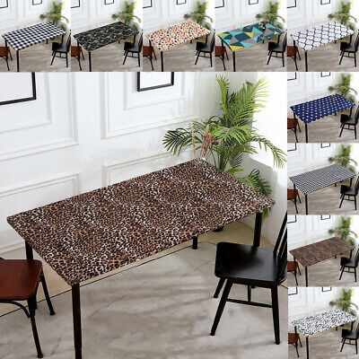 AU18.35 • Buy Elastic Table Cloth Cafe Holiday Dining Kitchen Decor Tablecloth Table Cover