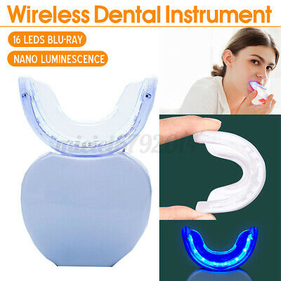 AU16.60 • Buy Teeth Whitening Blue Light Wireless Mouth Tray Smile Dental Gel Tooth White