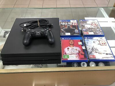 AU399.99 • Buy Sony PlayStation 4 Pro 1TB Black Console & 4 Games