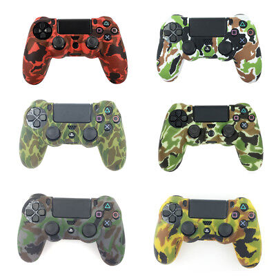 AU10.24 • Buy Camouflage Silicone Gel Rubber Soft Skin Grip Cover Case For Ps4 Controller  Jf