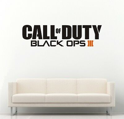 £9.99 • Buy Call Of Duty Black Ops Style Logo PS4 Xbox Vinyl Wall Art Decal / Sticker UK